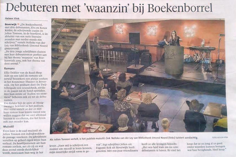 Recensie Dagblad Kennemerland 25 maart 2015